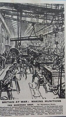 Britain at War. WW1 munitions manufacturing postcard.
