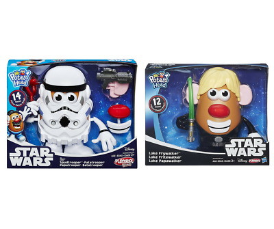 Disney Star Wars Playskool Hasbro Mr. Potato Head Spudtrooper & Luke Frywalker