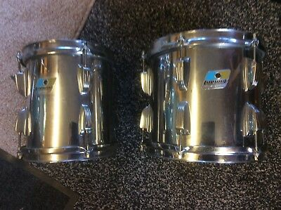 "Vintage Ludwig Maple Power Toms 8"" and 10"""