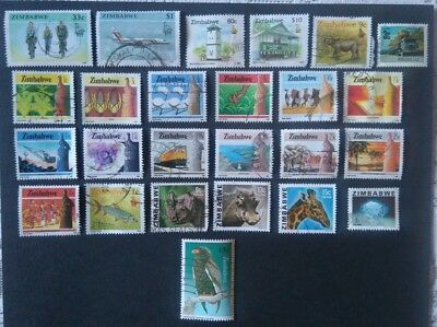 Zimbabwe Stamps a small mixof good stamps
