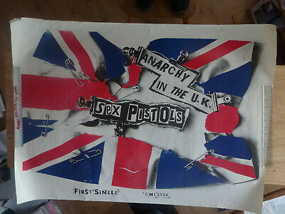 Rare Original Sex Pistols anarchy in the UK Poster 1977