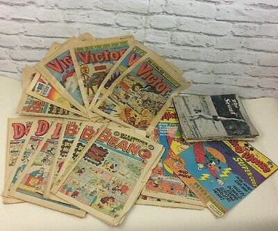 Job Lot Of Approximately 35  Vintage Magazines To Include Beano, Dandy & More.
