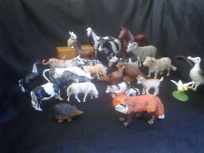Bundle Of Farm Animal Figures By Schleich / Elc Etc