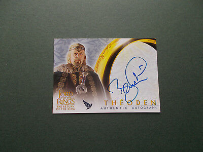 """Lord Of The Rings Signed Card By Bernard Hill As """"theoden"""""""