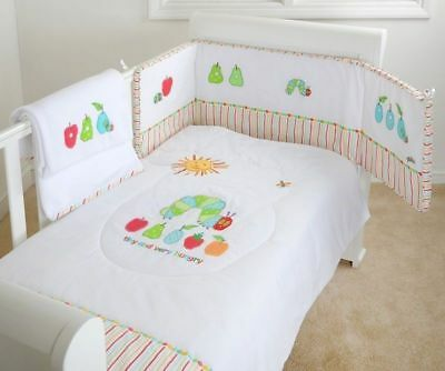 The Very Hungry Caterpillar 3 Piece Bedding Cot Set Bumper