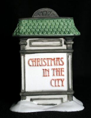 Dept. 56 Porcelain 5960-9 Accessory Christmas In The City Village Sign -  New