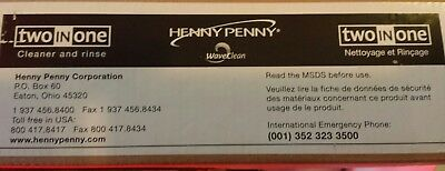 henny penny two in one cleaner and rinse full box