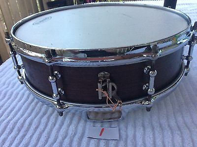 Ludwig & Ludwig Snare Drum 4 by 14 Early 1920s Worldwide Ship Solid Mahogany