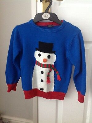 Next boys Christmas jumper 3-4