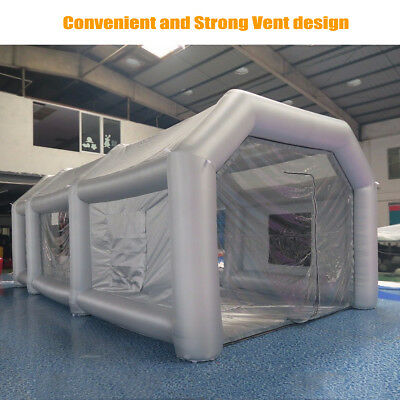 26x13x10Ft Inflatable Spray Paint Booth Tent Car Custom + Filtration System, Fan