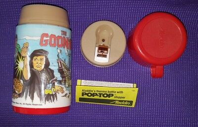 Rare HOLY GRAIL 1985 GOONIES Lunch Box Thermos MINT UNUSED!!