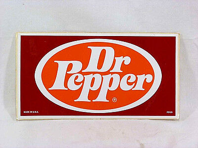 """Vintage Dr Pepper Sticker - Over 7"""" x 4"""" - Early 1980's NOS"""
