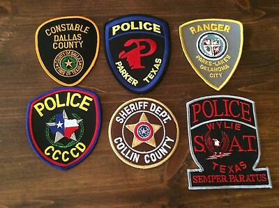 police patch mixed lot Texas Swat constable sheriff ranger