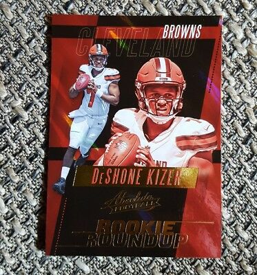 Panini Card Absolute Football 2017 #28 DeShone Kizer Cleveland Browns