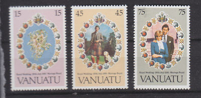Vanuatu 1981 Royal Wedding set um-mint