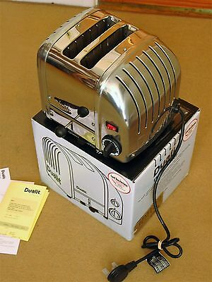 Original DUALIT Classic Chrome Two Slot Toaster New Condition