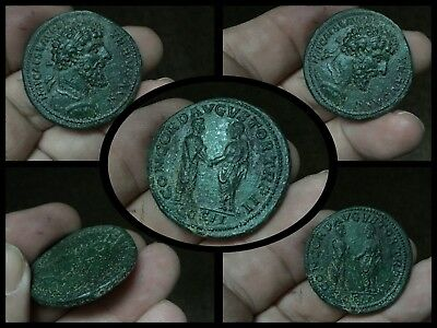 Rare Roman Bronze Sestertius Coin 1st Cent Ad Needs Researching