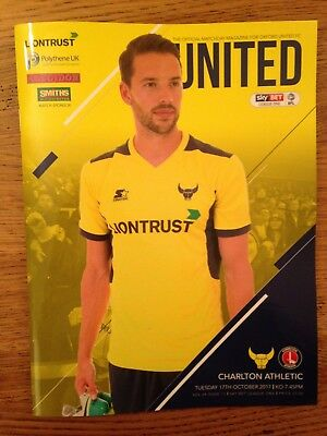 Oxford United v Charlton Athletic - league 1 : Played 17th October 2017 - Mint