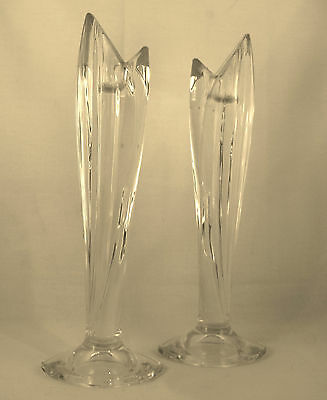 Pr. Marquis Waterford Crystal Palma Candlesticks