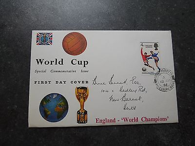 GB FDC 'England Winners' World Cup 1966. 18 Aug 1966. CDS Cancel. Cotswold Cover