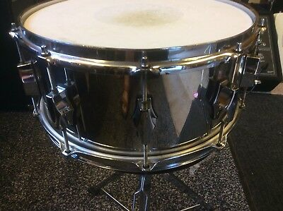 "***RARE*** Fibes Stainless Steel 14"" x 6 1/2"" snare drum by Ron Dunnett"