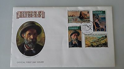 Guernsey Stamps FDC 1974 Renoir