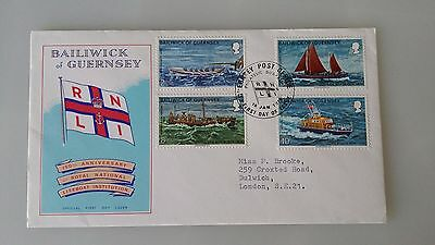 Guernsey Stamps FDC 1974 RNLI