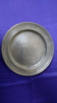 """Multi Reed Pewter Plate - 9 5/8"""""""