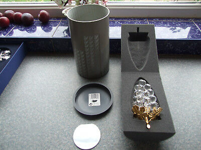 """Swarovski Silver Crystal Bunch of Grapes - large 24 Grapes 6.25"""" (16 cm)"""