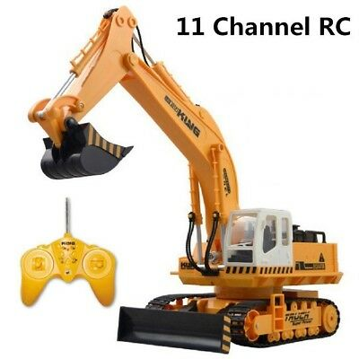 Remote Control Excavator RC Tractor Bulldozer Crawler Truck Metal Digger Car Toy