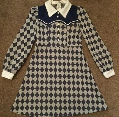 Vintage 1970's Girls Dress Approx Age 6/7