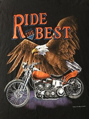 Vtg.-Ride The Best-Bike Eagle-Tennessee River T-Shirt-Xlarge-Rare