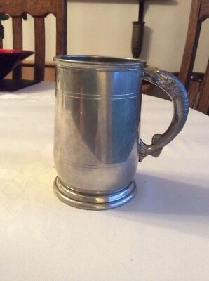 Vintage Pewter Tankard. Fish Handle. Great Gift.