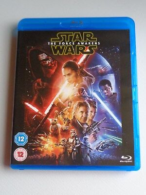 Star Wars The Force Awakens (Blu-ray) Watched Once - Free Postage - No Reserve