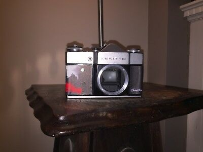 Zenit B 35mm Camera with a Russian Skin