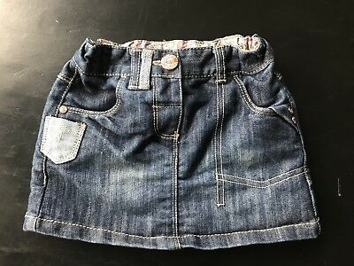 Next Baby Girl Denim Mini Skirt 12-18 Months.