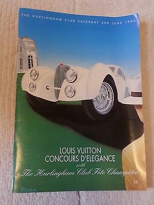 Louis Vuitton Vintage Car Show Programme Held At Hurlingham Club June 1995