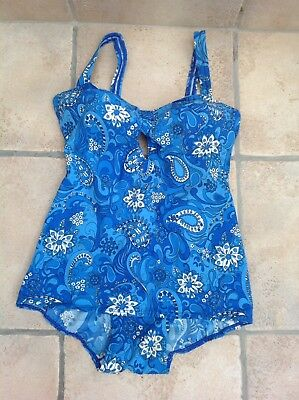 Vintage St Michael Paisley Swimming Costume 40""