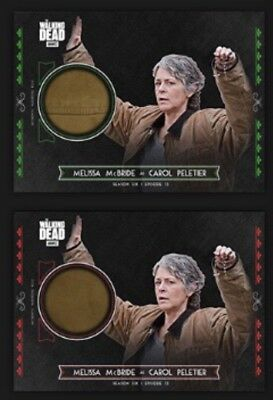 Carol Peletier-Red+Green Relic-Topps Walking Dead Trader