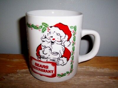 Vintage Ceramic Sears Restaurant Maxwell House Coffee Christmas Mug