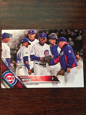 2016 Topps Travis Wood 42 Photo Variation SP Chicago Cubs