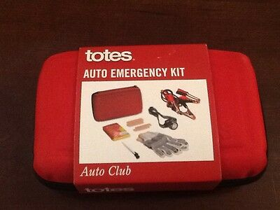 TOTES brand, Auto Emergency Kit. (See List of Items Under Description).  NEW.