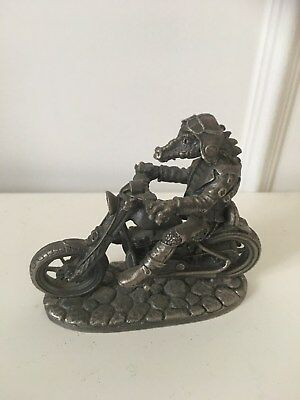 """'The Biker'"" Collectable Dragon Ornament Designed By Mark Locker.Sunning Detal"