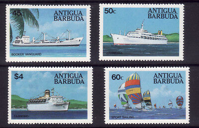 Antigua    1984  Ships   Sg 830 / 833    Set  4   Vals    U/m Mint