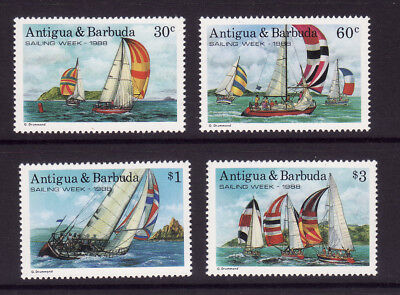 Antigua  Barbuda   1988  Sailing   Week      Set  4  Vals    U/m Mint
