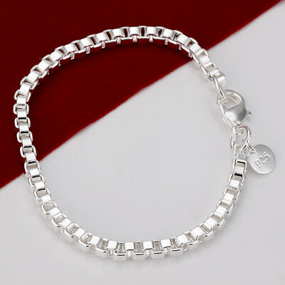 Hot Fashion jewelry 925Silver pretty ladies gift heart charm Bracelet Bangle