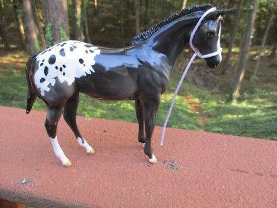 Peter Stone Horse Foal Weanling,-GLOSS Black and white Blanket Appaloosa, RAMIEL