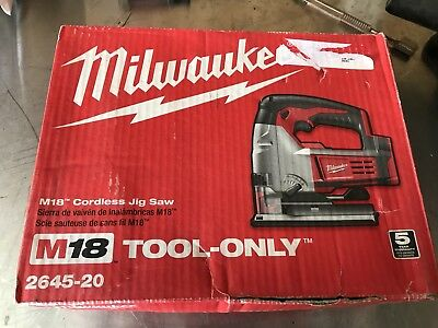 Milwaukee 2645-20 M18 Cordless Jig Saw (Tool Only) New
