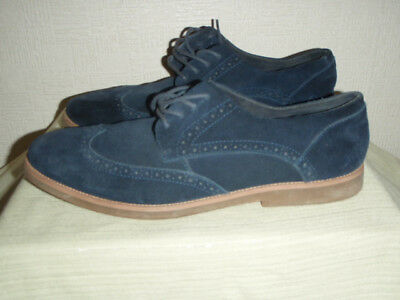 Mens Ralph Lauren Polo Navy Blue Suede Brogue Shoes Uk Size 10 Eur 44. Used