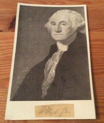 Very Rare genuine and authentic George Washington signature with picture